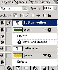 photoshop rollover button